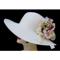 "Ivory 4"" Picture/Lg Flower Pin"