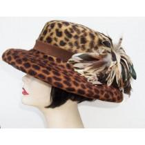 Leopard Fur Felt Gambler