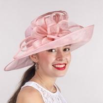 Pale Pink Dress Derby Hat