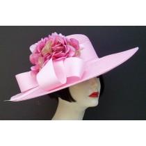 """Pink 5"""" Brim/Hydrangea"""