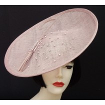 Mauve Large Pearl Fascinator