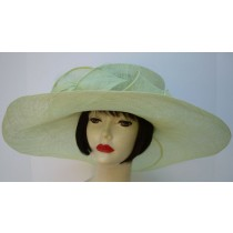 Mint Green Soft Sinamay Picture Hat