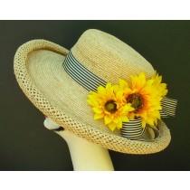 Natural Raffia/Stripe/Sunflowers