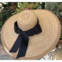 Natural Straw Large Brim Hat