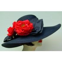 """Navy 5"""" Milan/Red Roses"""