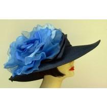 """Navy 5"""" Milan/XL Blue Rose"""