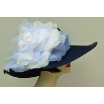 """Navy 5"""" Milan/XL White Rose"""