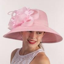 Pink Dressy Hat-Flowers
