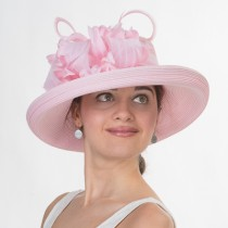 Pink Flower Dress Hat