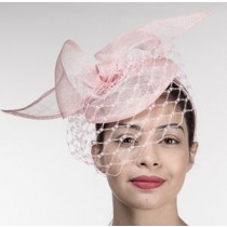 Pale Pink Net Fascinator