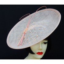 Pink Pearl Large Fascinator