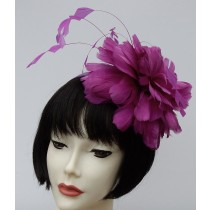 Purple Fascinator-Feathers