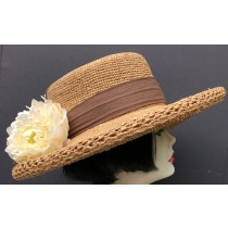 Raffia Straw Hat - Flowers