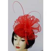 Red Butterfly Fascinator