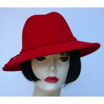 Red Wool Fedora