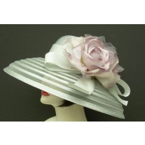 Silver Grey Sheer Breton/Lavender Rose