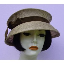 Taupe Travel Hat-Suede
