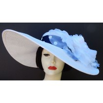 "White 5"", 6"" or 8"" Brim-White Rose"