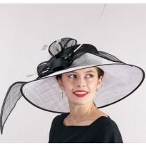 White Black Derby Hat