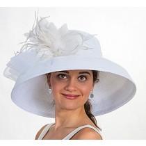 White Dress Derby Hat
