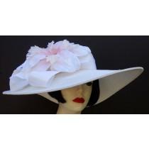 White Pale Pink Derby Hat