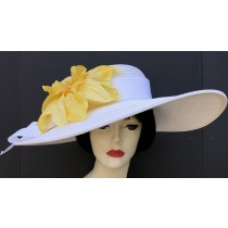 White Yellow Derby Hat