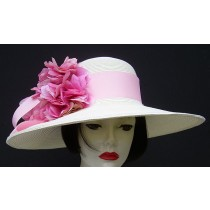 """White 5"""" Brim-Pink Hydrangea"""
