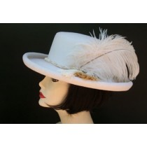 Winter White Gambler/Tassel