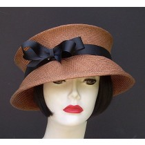 Brown Travel Hat-Black Ribbon