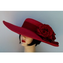 "Red 6""  Brim/Black Stripe Ribbon"