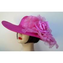 """Hot Pink 5"""" Brim/XL Pink Rose"""