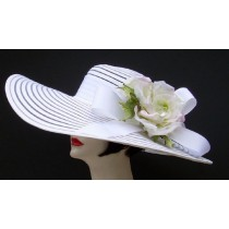 "White 6"" Brim/HH/Sheer Rose"