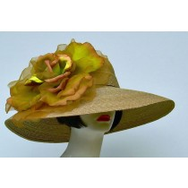 "Taupe 6"" Milan/XL Gold Rose"