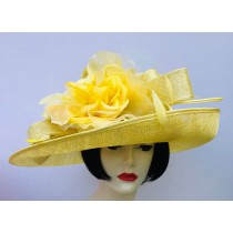 Yellow - Silver Dressy Hat