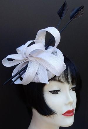 Grey Feather Fascinator