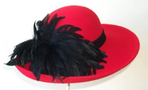 Red Large Picture/Black Feather