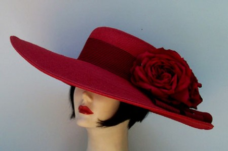 Red 5-6 Brim-Stripe Ribbon